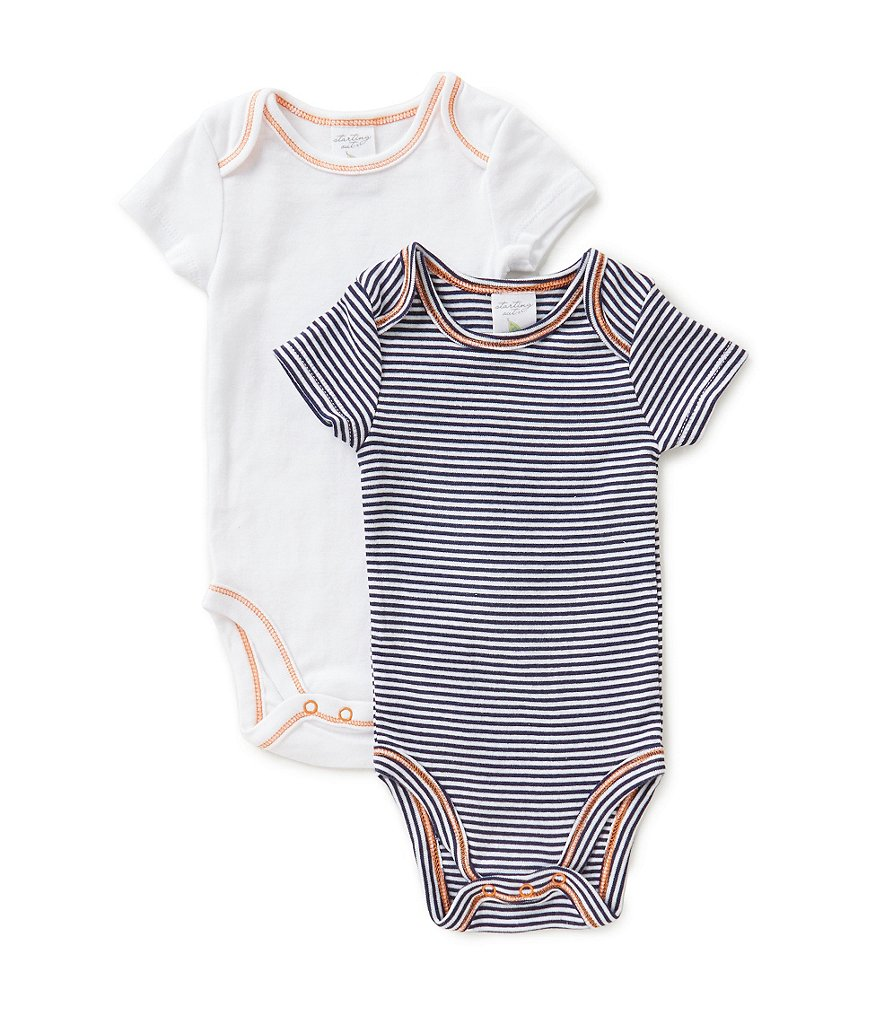 Starting Out Baby Boys Newborn-6 Months 2-Pack Striped Bodysuits