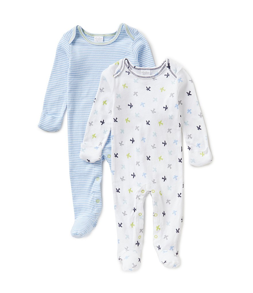 Starting Out Baby Boys Newborn-6 Months 2-Pack Plane Coveralls