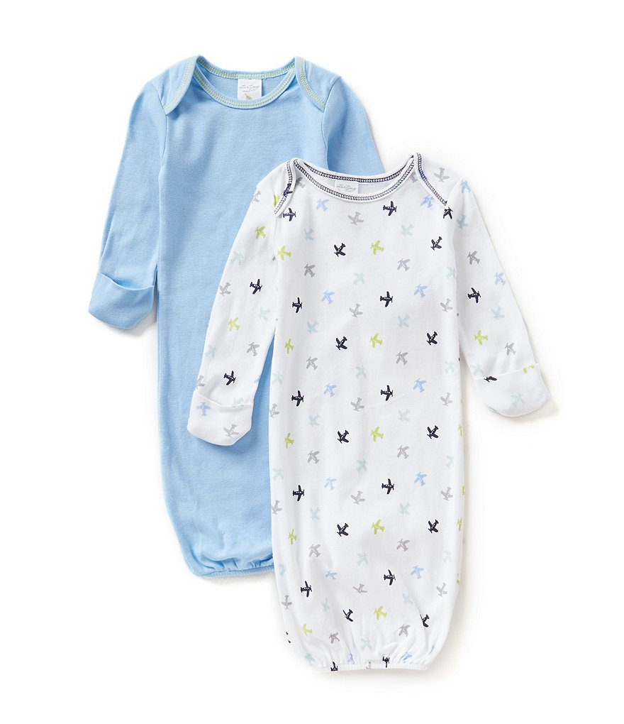 Starting Out Baby Boys Newborn-6 Months 2-Pack Plane Gowns