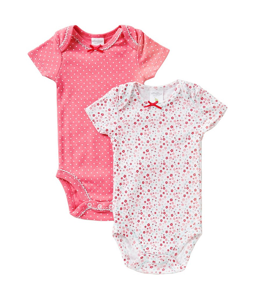 Starting Out Newborn-6 Months 2-Pack Floral Bodysuits