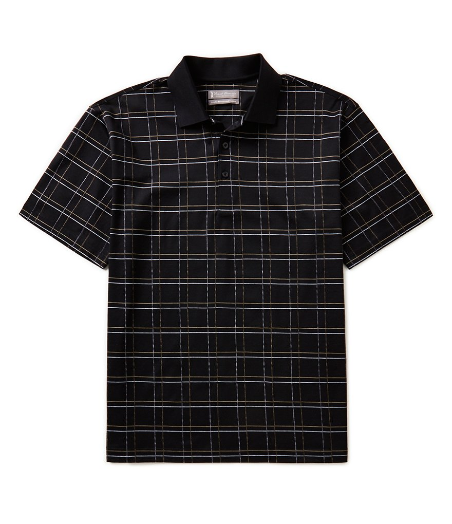 Daniel Cremieux Signature Short-Sleeve Triple Mercerized Windowpane Polo Shirt