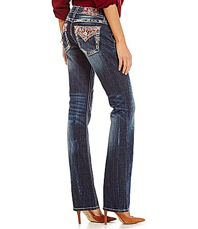 Miss Me Paisley Pocket Bootcut Jeans