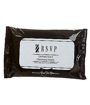 RSVP Skin Care for Men Oil Free 5-In-1 Cleansing Cloths