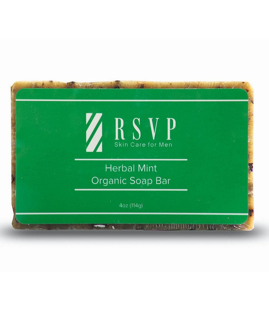 RSVP Skin Care for Men Herbal Mint Organic Soap Bar