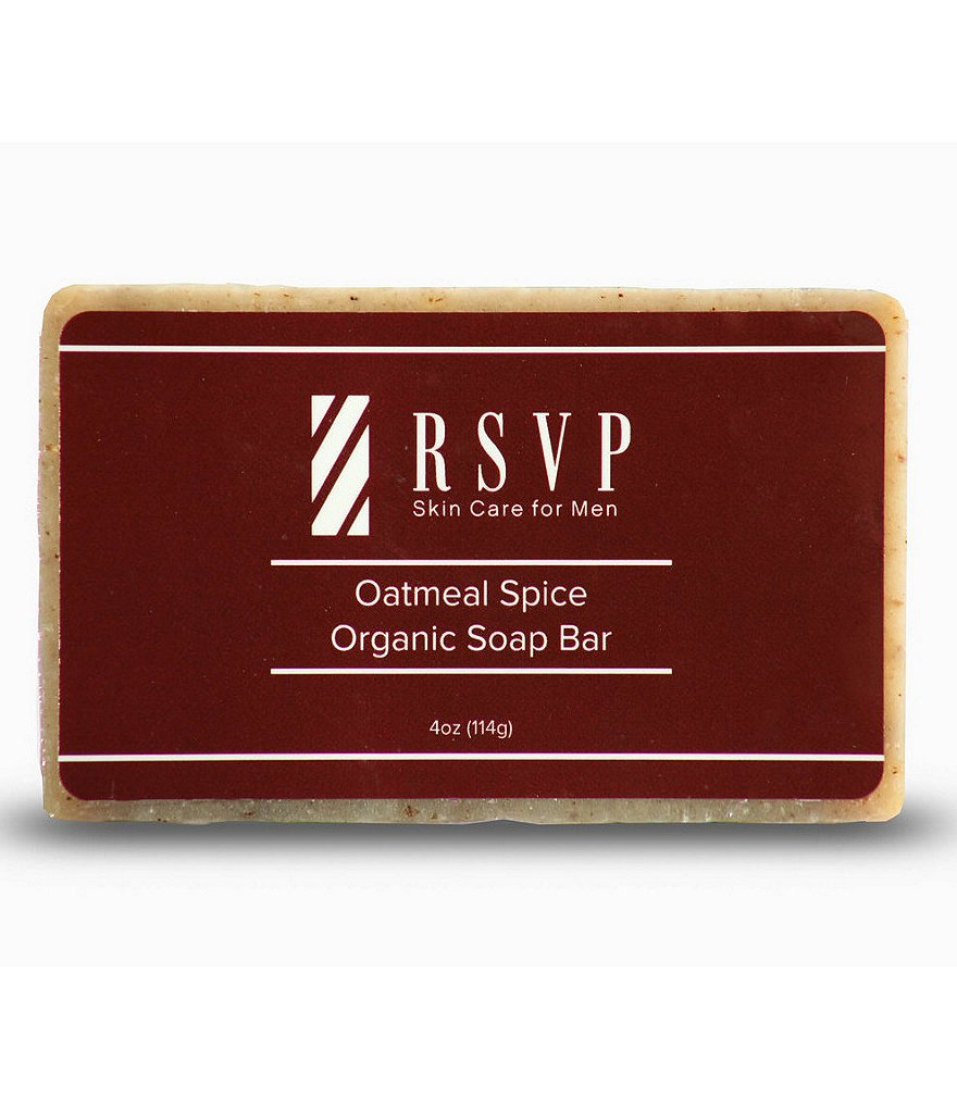 RSVP Skin Care for Men Oatmeal Spice Organic Soap Bar