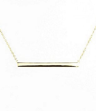 Argento Vivo Straight Bar Pendant Necklace