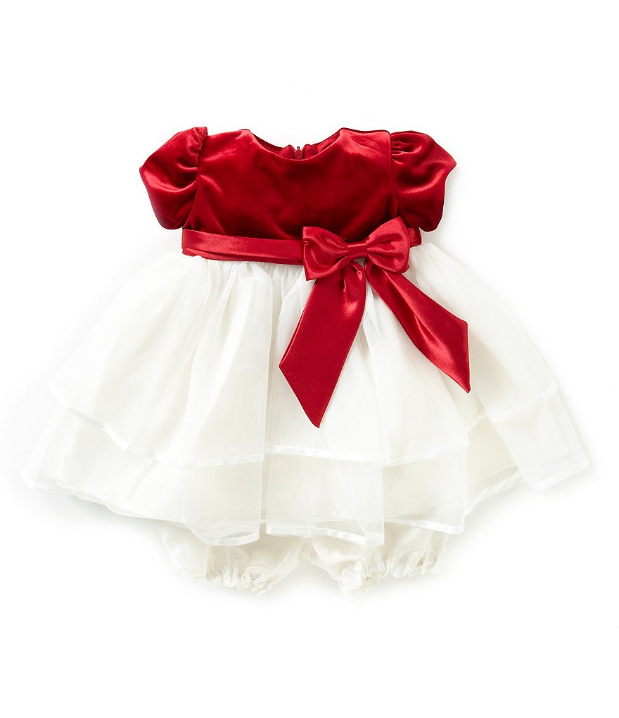 Jayne Copeland 3-24 Months Tiered Christmas Holiday Dress