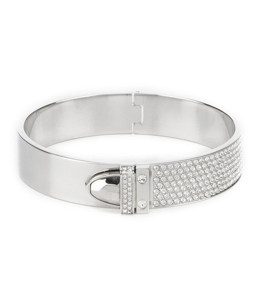 Swarovski Distinct Crystal Pavé Hinge Bangle Bracelet