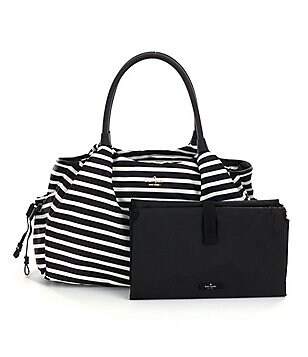 kate spade new york Classic Nylon Stevie Striped Baby Bag