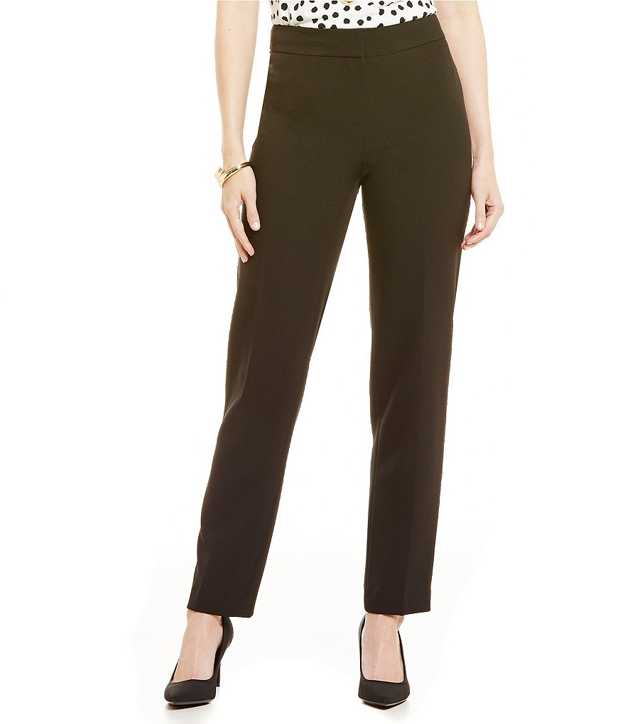 Kasper Slim Stretch Crepe Pant