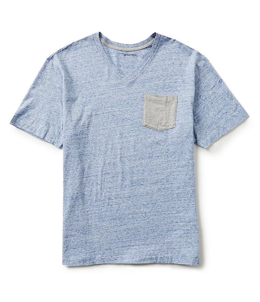 Cremieux Short-Sleeve V-Neck Pocket Tee