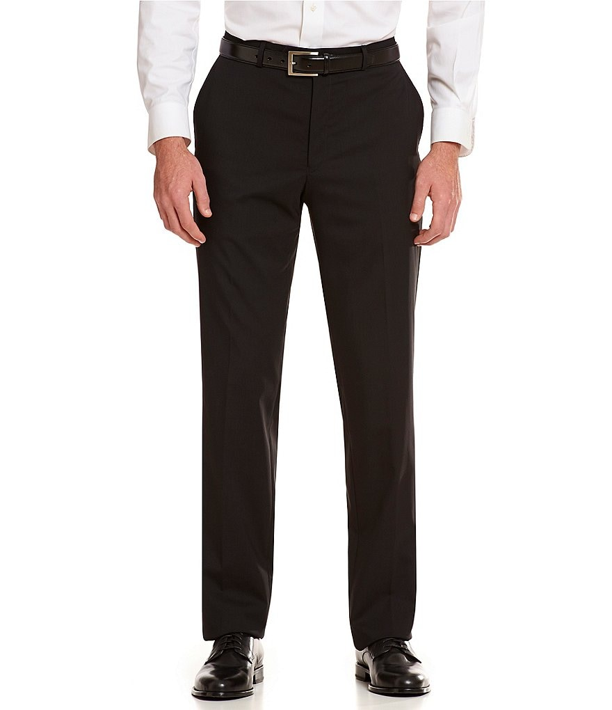 Hart Schaffner Marx Tailored Flat-Front New York Dress Pants