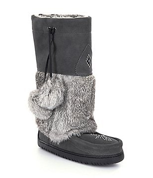 Manitobah Mukluks Fur Snowy Owl Cold-Weather Boots