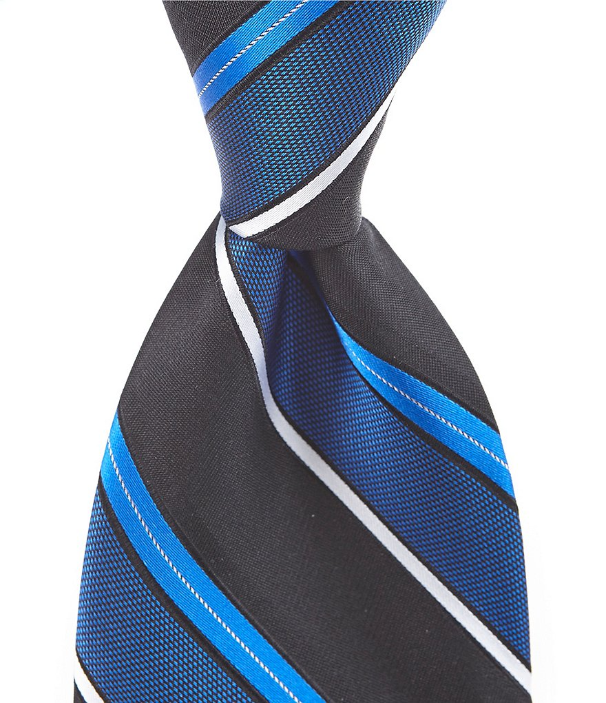 Murano Slack Stripe Traditional Silk Tie