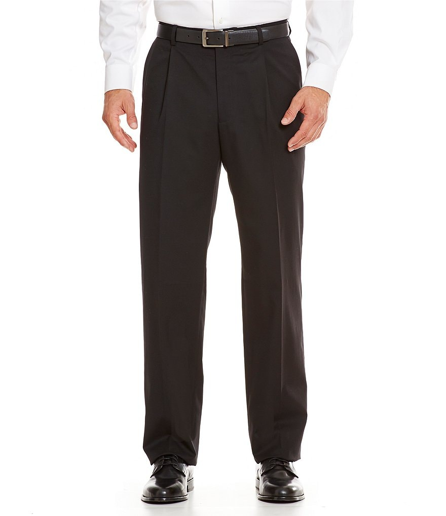 Hart Schaffner Marx Tailored Single-Pleat Chicago Dress Pants
