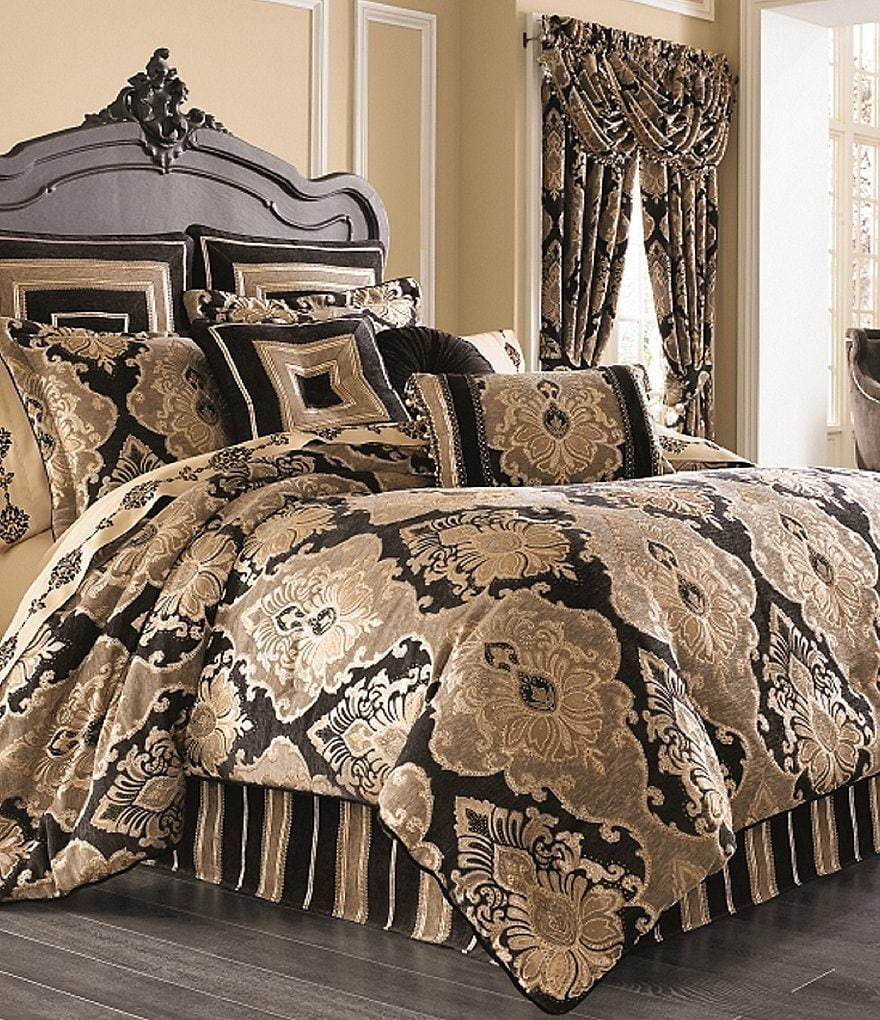 J Queen New York Bradshaw Damask Chenille Comforter Set Dillards