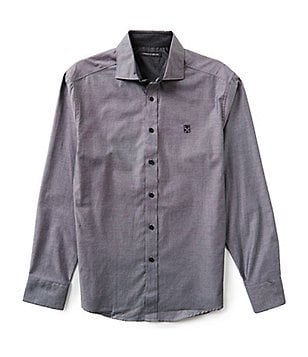 Vince Camuto Long-Sleeve Italian Oxford Solid Woven Shirt