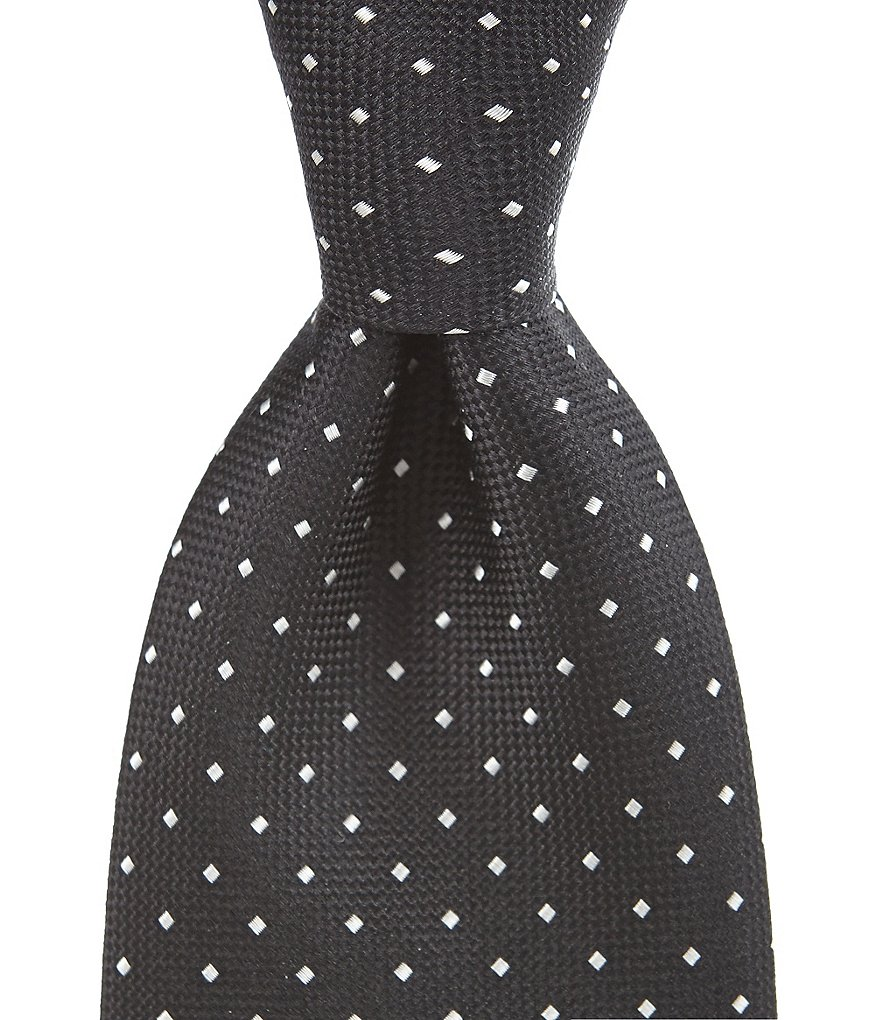 Roundtree & Yorke Trademark Shirt Dot Traditional Silk Tie