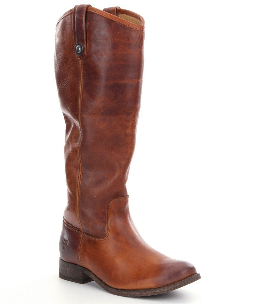 Frye Melissa Button Wide Calf Rididng Boots