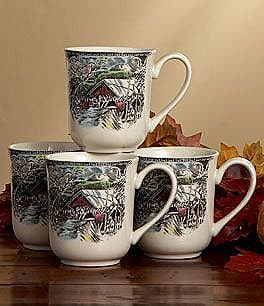 Johnson Brothers Friendly Village 12-Oz. Mugs, Set of 4 Image