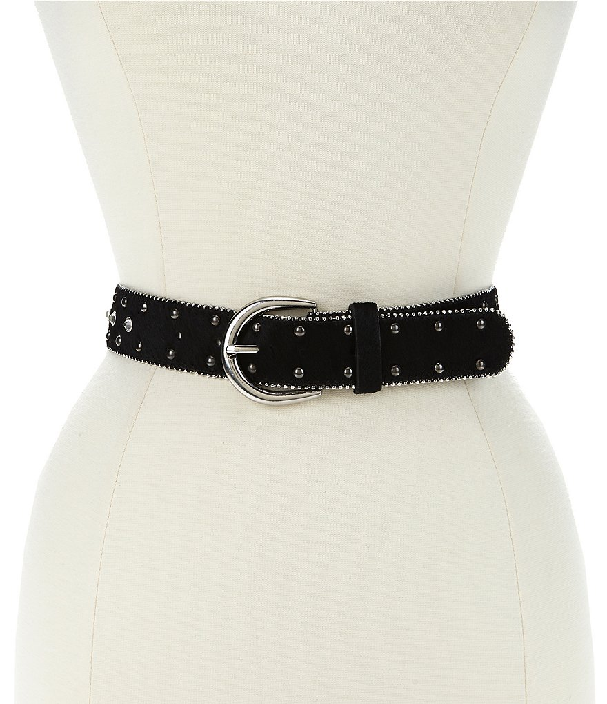 Reba Pony Hair Embellished Belt
