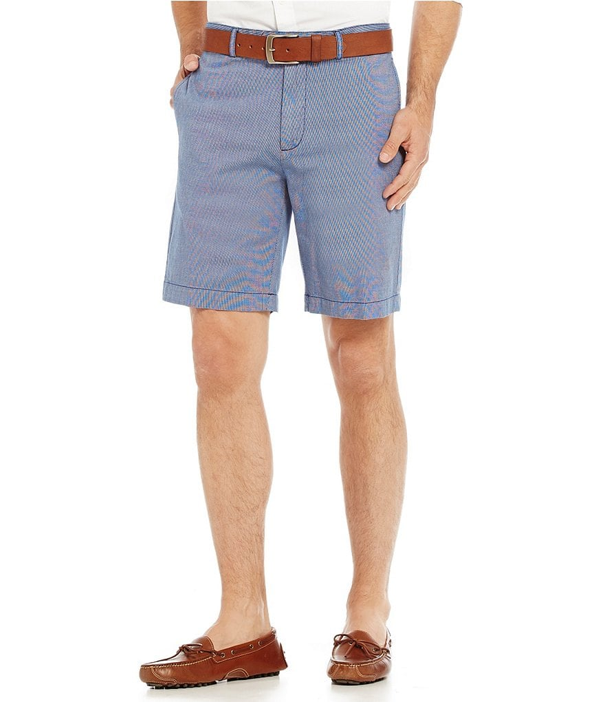 Cremieux Newport Solid Flat-Front Shorts