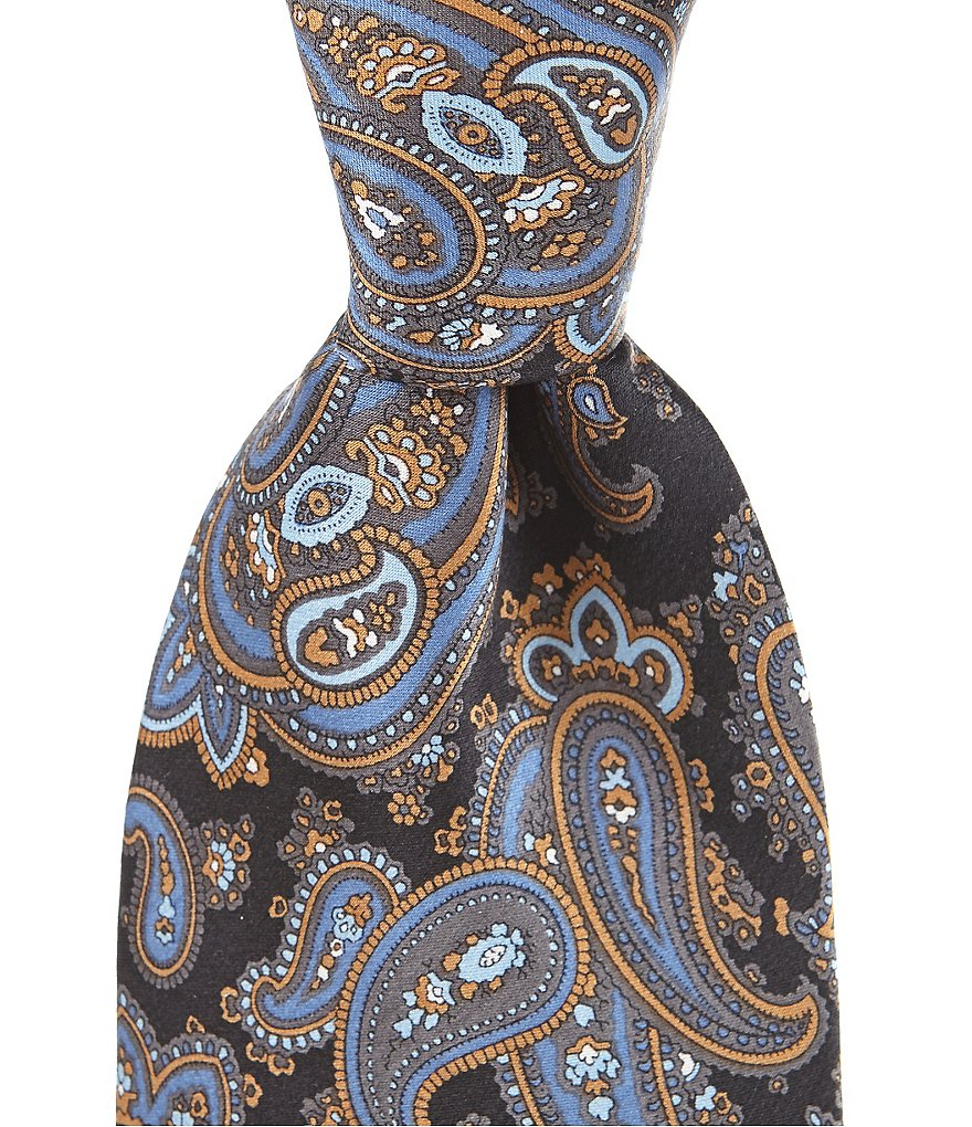 Cremieux Peached Paisley Traditional Silk Tie