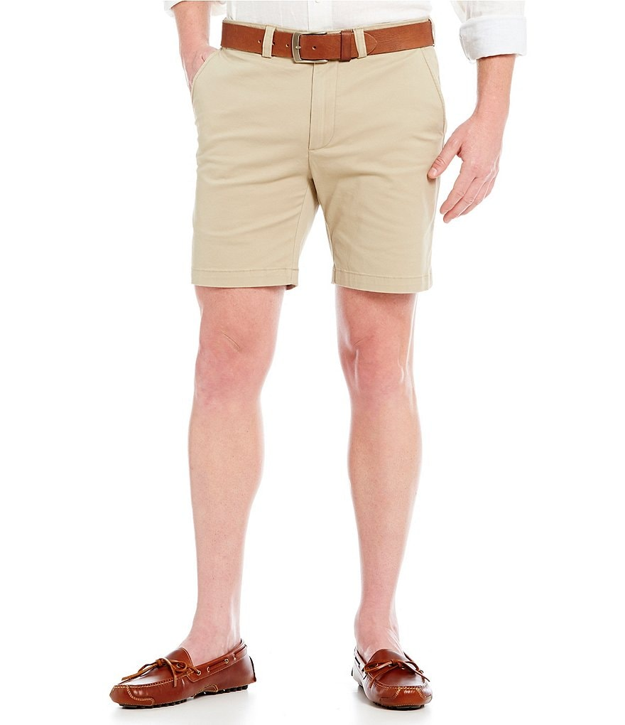 Cremieux Soho Flat-Front Slim-Fit Shorts
