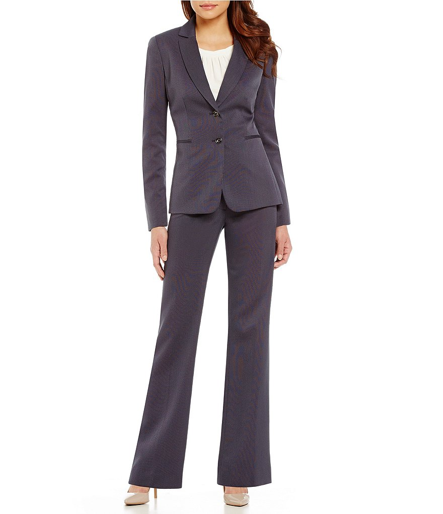 Tahari ASL Novelty Long-Sleeve Pant Suit