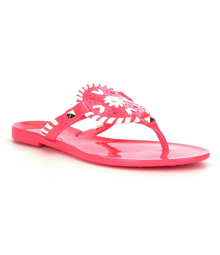 Jack Rogers Girls´ Miss Georgica Studded Whipstitched Jelly Sandals