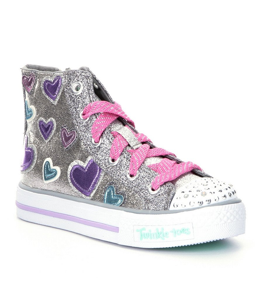 Skechers Girls´ Twinkle Toes Shuffles Starlet Pose Light-Up Sneakers