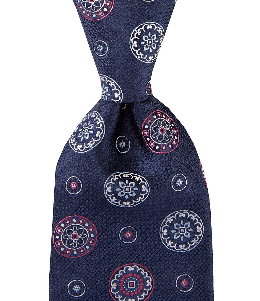 Cremieux Double Wheels Traditional Silk Tie