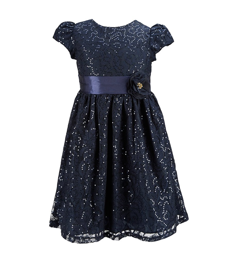 Rare Editions 2T-6X Sequin Lace Dress