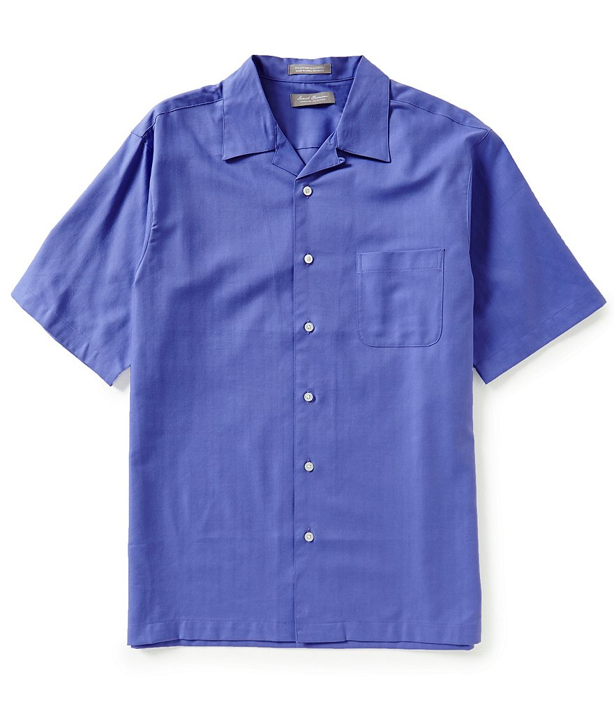 Daniel Cremieux Signature Short-Sleeve Solid Camp Shirt