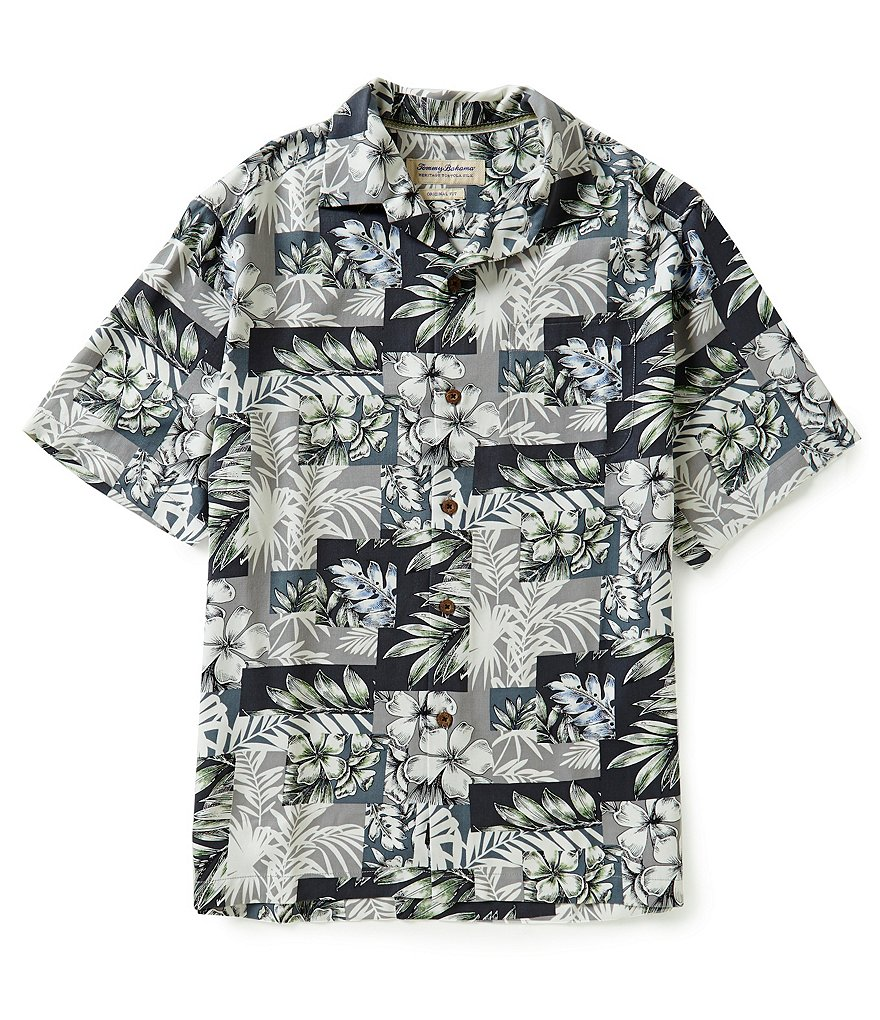 Tommy Bahama Short-Sleeve Plumeria Patchwork Woven Shirt