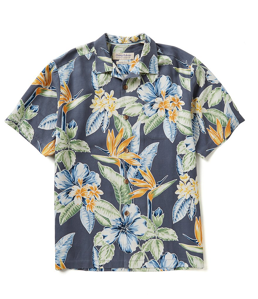Tommy Bahama Short-Sleeve Big Island Blooms Woven Shirt