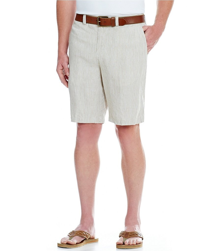 Tommy Bahama Provence Striped Flat-Front Shorts