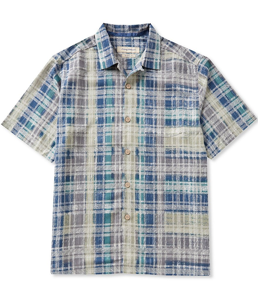 Tommy Bahama Short-Sleeve Island Zone Plaid Woven Shirt