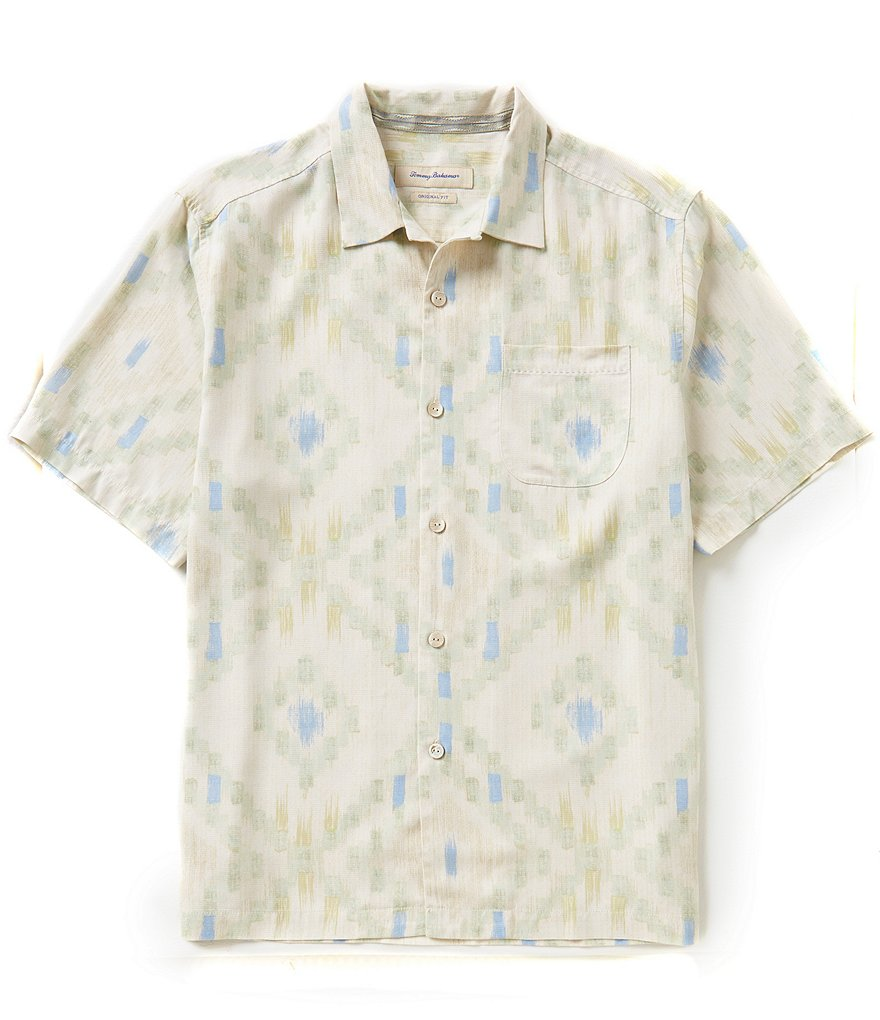 Tommy Bahama Diamond Ikat Short-Sleeve Silk Shirt