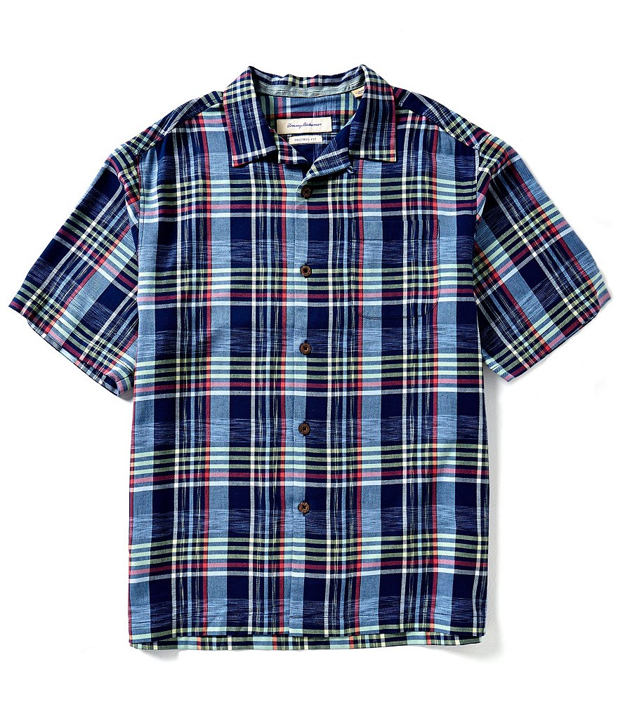 Tommy Bahama Short-Sleeve Place De Plaid Woven Shirt