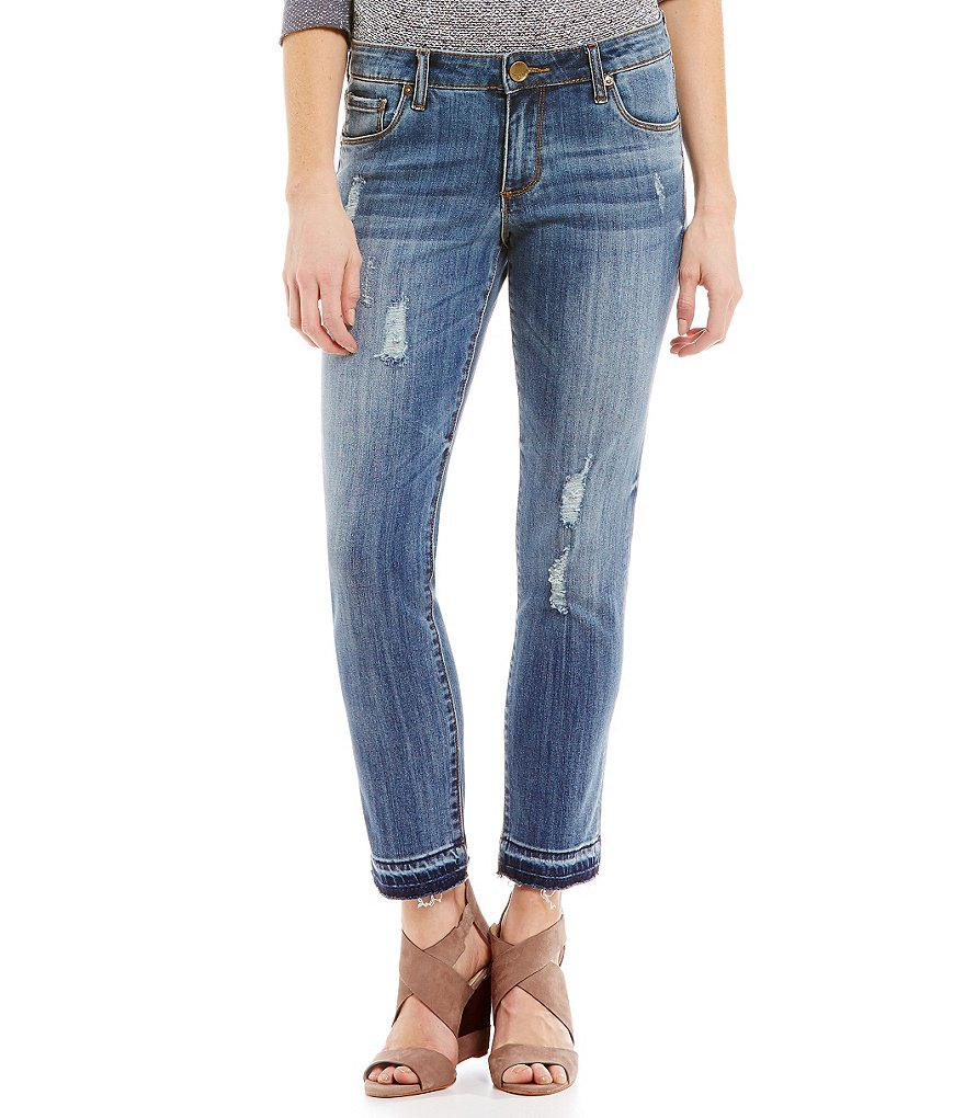 KUT from the Kloth Resse Destructed Ankle Jeans