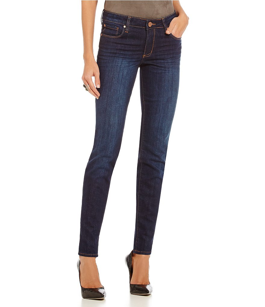 See Thru Soul Blue Lily Skinny Jeans