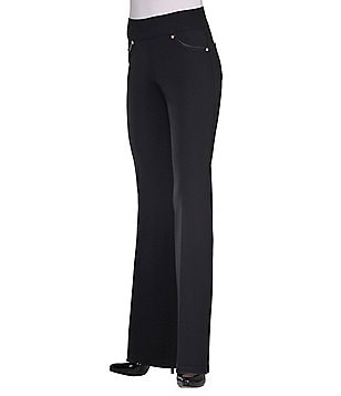 Bianca Nygard Slims Faux-Leather-Trimmed Bootcut Pants