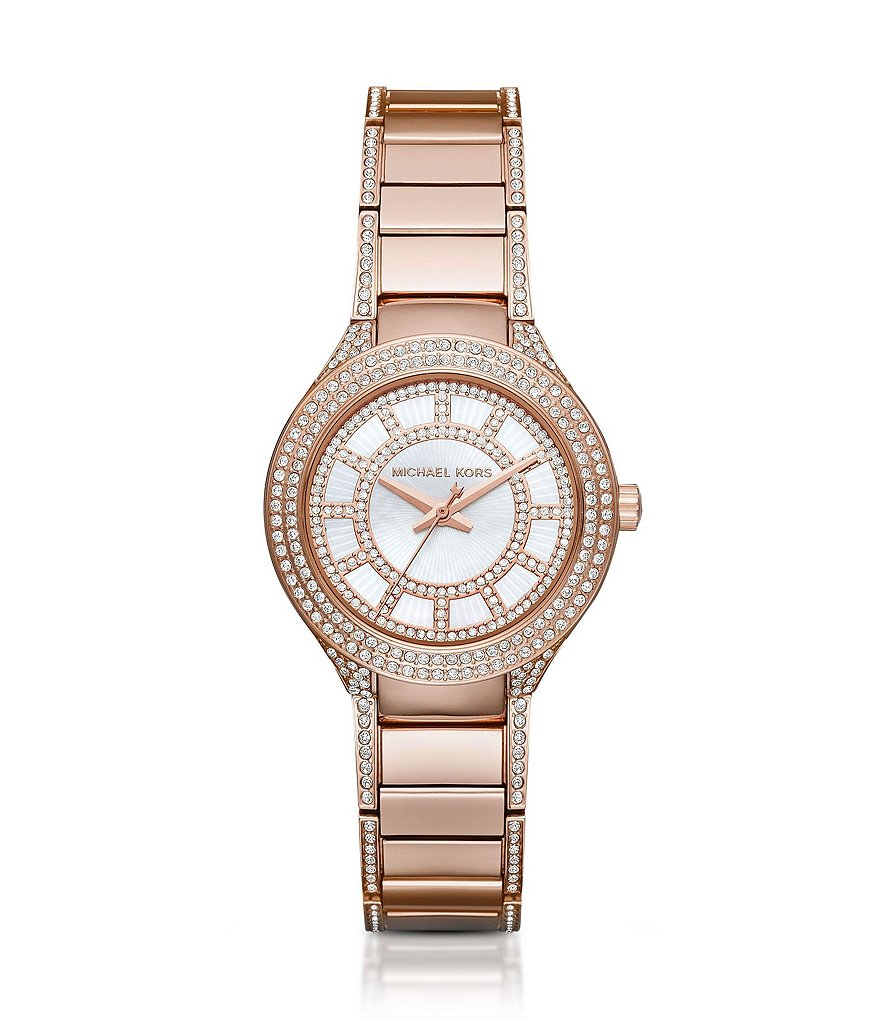 Michael Kors Mini Kerry Stainless Steel 3 Hand Watch