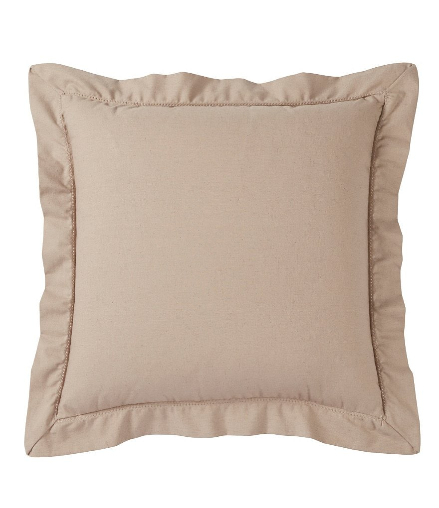 Villa by Noble Excellence Ruffled Textured Cotton Square Pillow