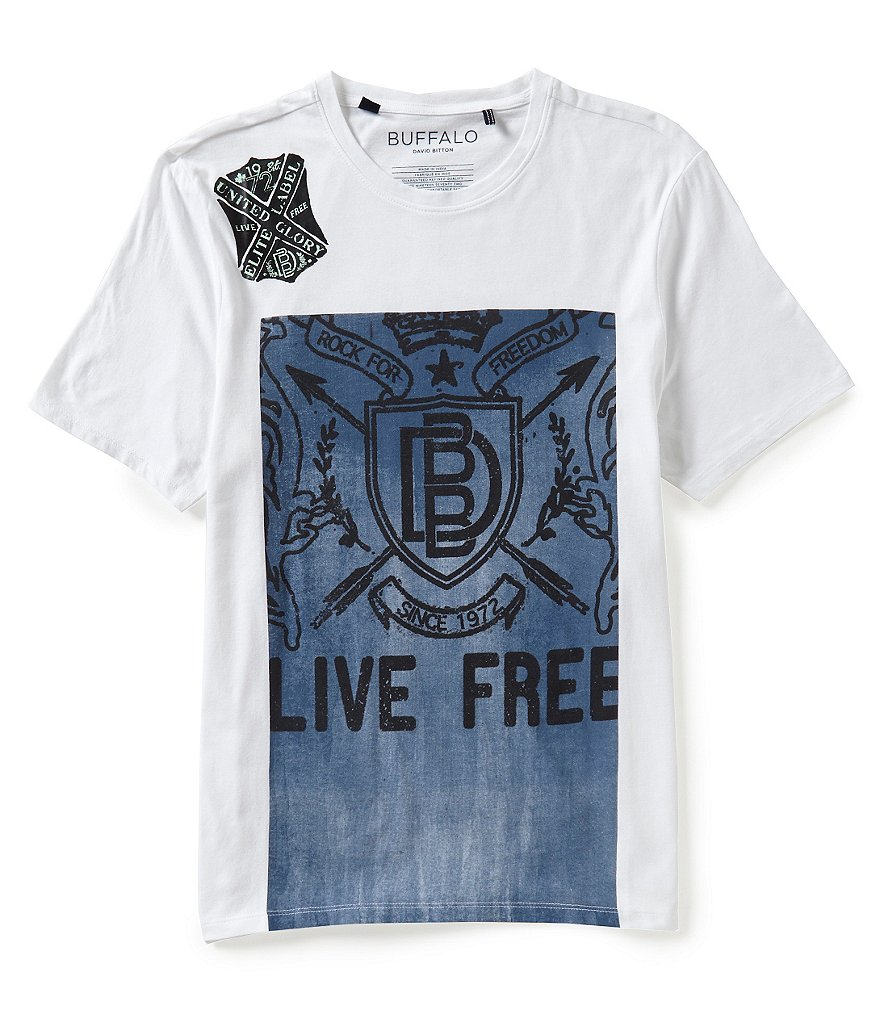 Buffalo David Bitton NACAP Short-Sleeve Crewneck Graphic Tee
