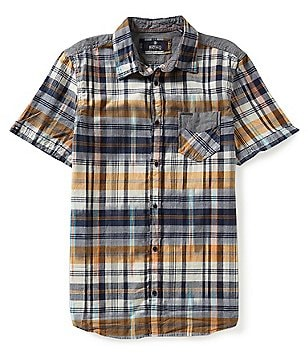 Buffalo David Bitton Short-Sleeve Sarat Ikat Plaid Shirt