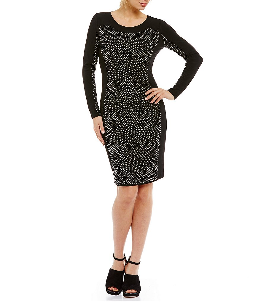 Calvin Klein Stone-Embellished Sheath Dress