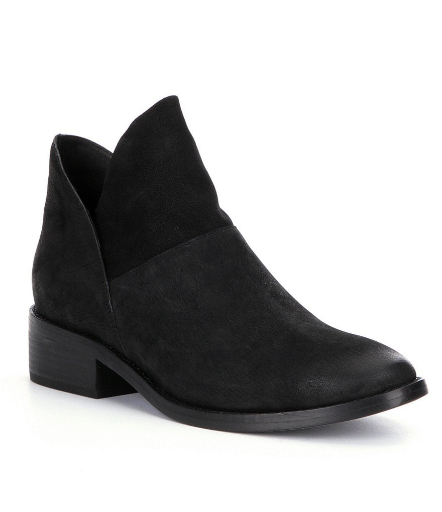 Eileen Fisher Leaf Leather Slip On Booties