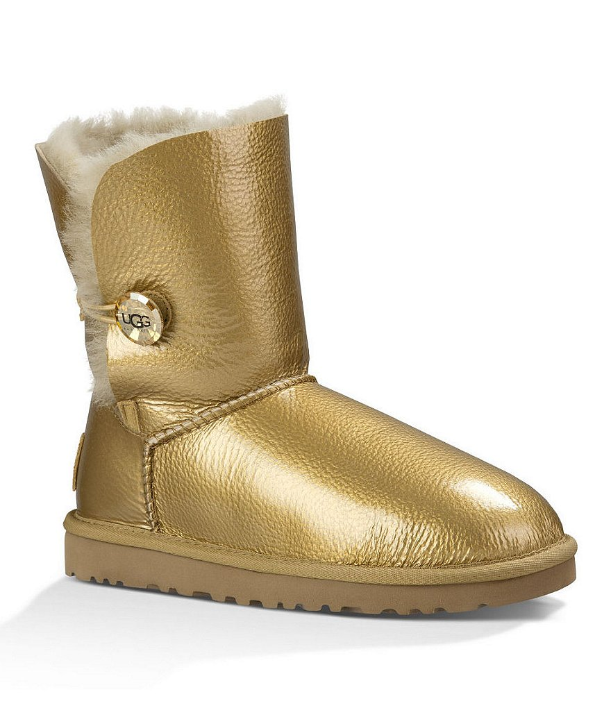 UGG® Bailey Button Mirage metallic Leather Mid-Calf Boots